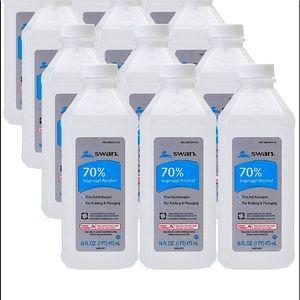 6 sealed bottles of Swan 70% ISOPOPRYL ALCOHOL